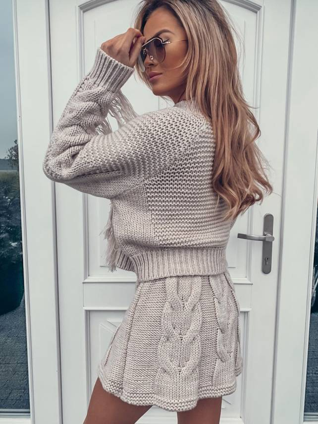Beige SKIRT WITH BRAIDS NOMADE   SHEILA AW20