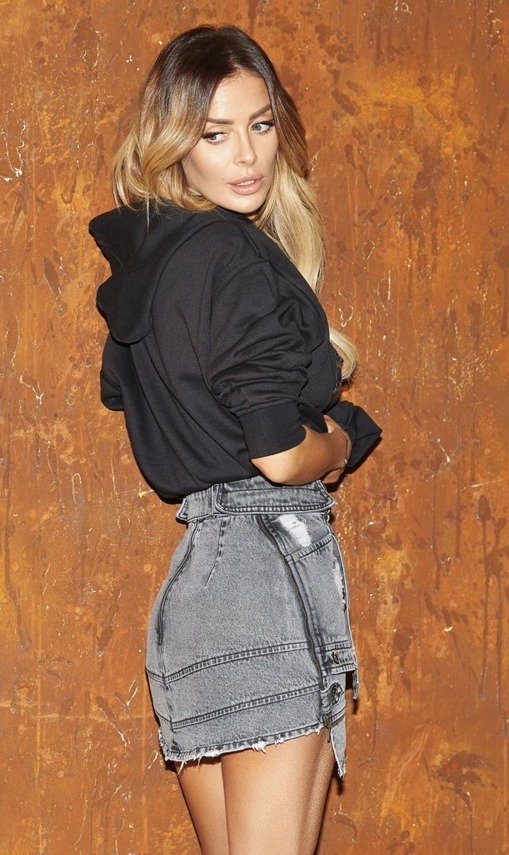 DENIM BLACK SKIRT | SHEILA AW19